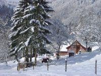la ferme de la fontaine en hiver